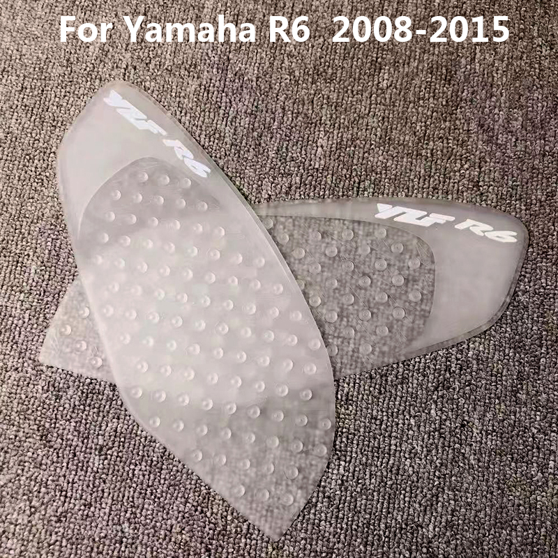 2x Yamaha Gel Tank Dome RED SILVER Decal YZF R1 R6 Fazer 40mm GENUINE YAMAHA