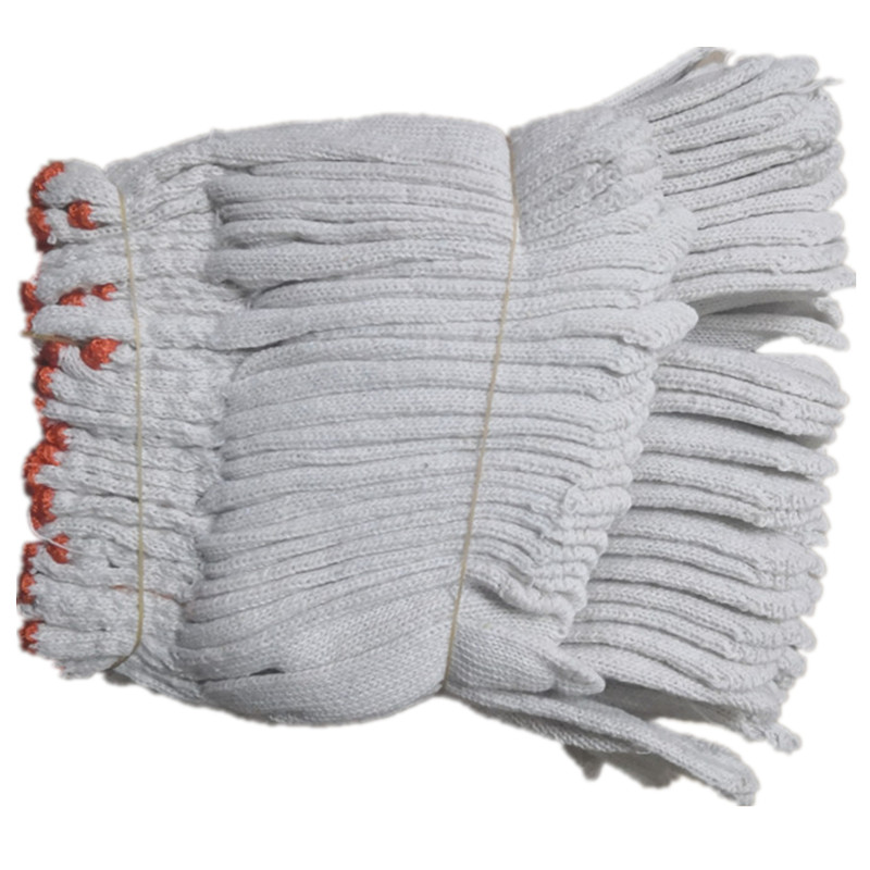 Labor Protection Yarn Gloves, Cotton Thread, White Thread, Site Driver, Auto Repair Work Gloves