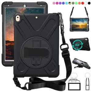 Image 1 - Kids Shockproof Case for iPad Air 3 Pro 10.5 2019 iPad Pro 11 Coque Three Layer Rugged Case 360 Degree Hand Shoulder Strap Cover