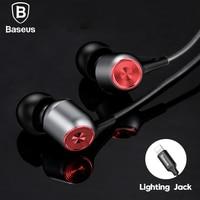 Baseus Wired Earphone For Lightning Earpods In Ear Headset For IPhone X 8 7 6 Plus