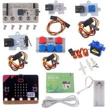 Для микробит базовый комплект, стартовый комплект с микро: битная плата светодиодный модуль аварийный датчик потенциометра сервопривод, DIY начинающих программы