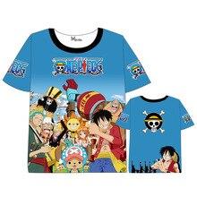 Anime ONEPIECE  One Piece T-shirt Men Women Short Sleeve Summer dress Cartoon Luffy  Portgas D Ace t shirt цена и фото
