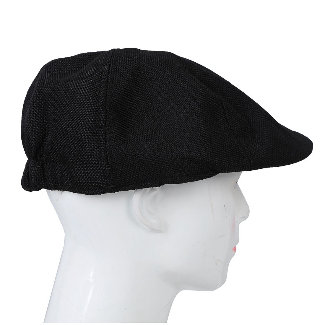 Solid Fluid Systems Gatsby Cap Ivy Hat Golf Driving Summer Sun Flat Cabbie Newsboy-Black