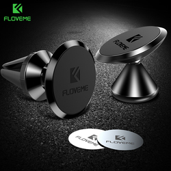 FLOVEME Car Magnetic Holder For iPhone XS Plus Air Vent Mount Mobile Smartphone Magnet Cellphone Support Cellular Phone for car
