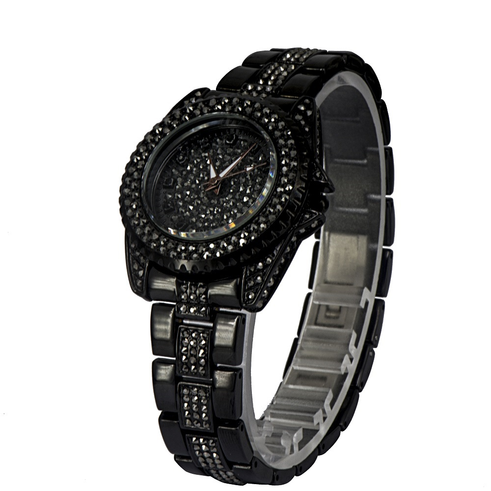 все цены на Charm Black Fashion Women Watches Quartz Movement Waterproof Ladies Wrist Watch LGXIGE Famous Brand Female Women Clock 2017 онлайн