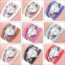 2017 Fashion New Style Leather Casual Bracelet Watch Wristwatch Women Dress Watches (size:60cm) LL@17