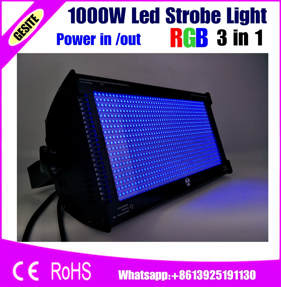 Free Shipping RGB Led 1000W Strobe Bar Stage Lighting Same White Light for Xmas party concert stage