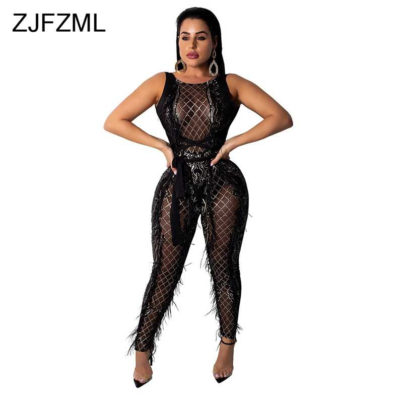 e6a4eceb7a ... Rhinestones Long Sleeve Bodycon Overall Casual Turtleneck Party Bodysuit.  RELATED PRODUCTS. Glitter Sequined Sexy Jumpsuits For Women 2018 Elegant  Sheer ...