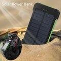 Водонепроницаемый 10000 мАч Солнечной Энергии Банк Солнечное Зарядное Устройство со СВЕТОДИОДНОЙ Подсветкой Dual USB PowerBank для iPhone Samsung Tablet С Компасом SOS