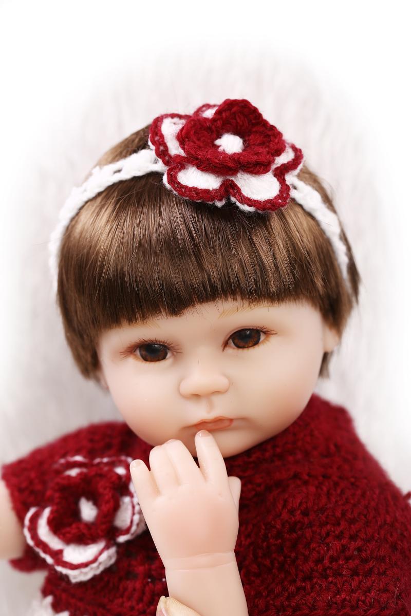 18 inch 42cm child love silicone reborn dolls/ american princess reborn dolls kids toys gift  brinquedo18 inch 42cm child love silicone reborn dolls/ american princess reborn dolls kids toys gift  brinquedo