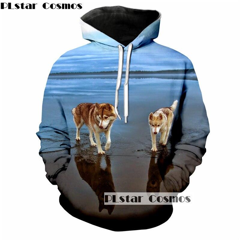 8ad8d335c530 PLstar Cosmos New 3d Hoodie Husky Printed Hoodies Unisex Sweatshirt Women  Men Pullover Hip Hop Long Sleeve Outwear Tops 5XL-in Hoodies   Sweatshirts  from ...