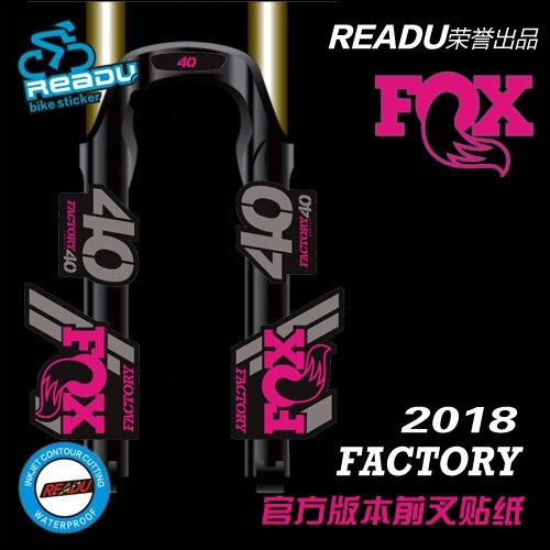 2018 fox40 vtt fourche avant autocollants nouvelle chute de vitesse renard 40 fourche avant stickers