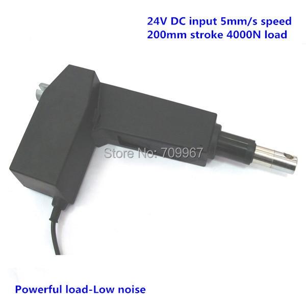 все цены на  4000N load 200mm stroke 5mm/sec speed 24V DC linear actuator for medical hospital electric bed electric sofa  онлайн