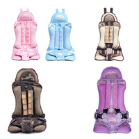 Portable 4 8 Years Old Children Baby Cotton Safe Chairs Car Seats with Harness Outdoor Sports Traveling Car Safety Supplies