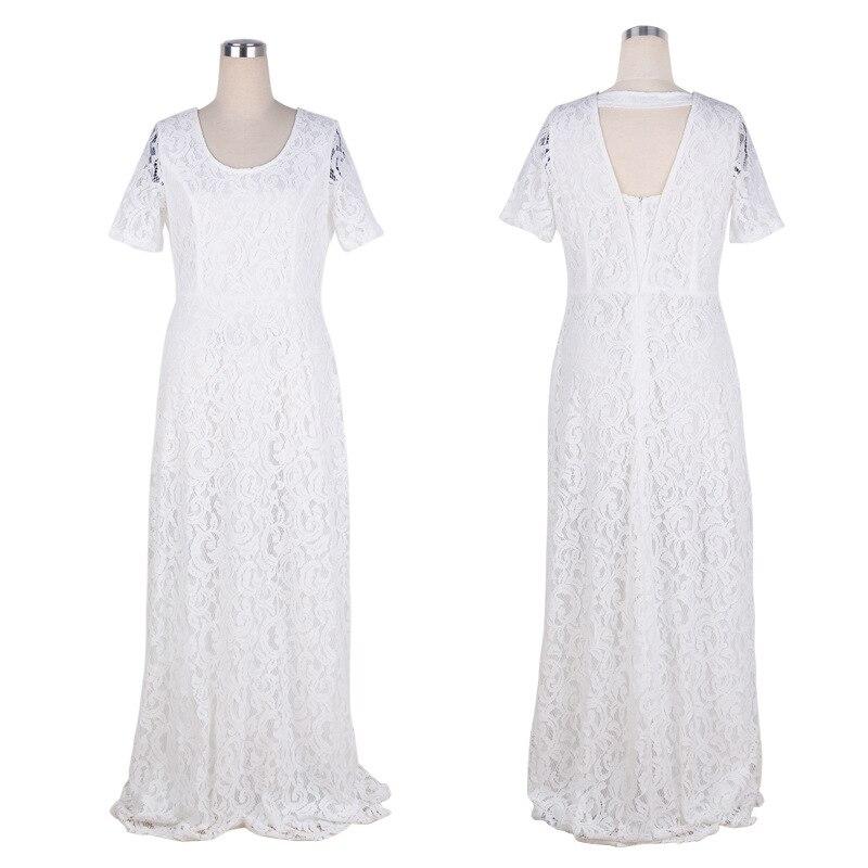 langes Abendkleid Ballkleid Spitze Mode Mollige Partykleid Kleid 40-56 BC310