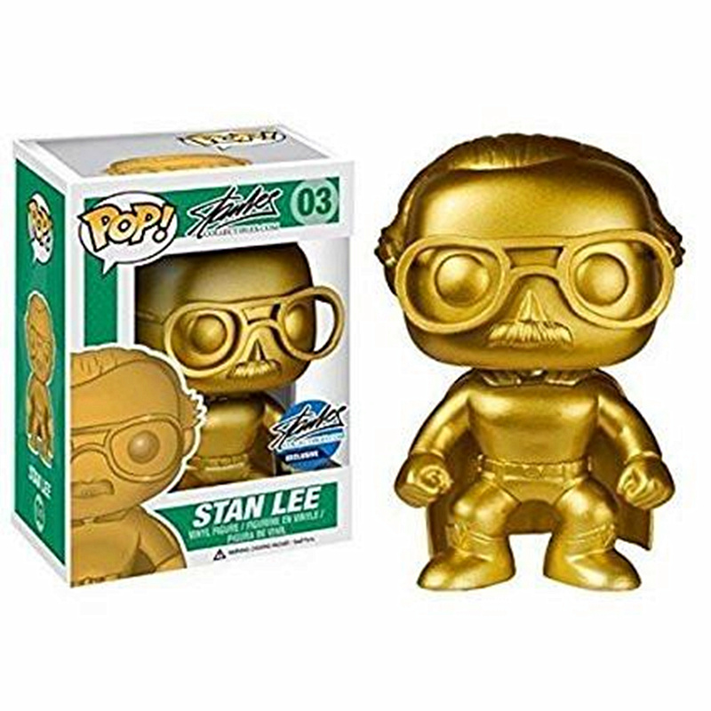 Funko POP Superhero Stan Lee Gold Exclusive Edition Collectible Vinyl Action Figure Doll Collection Model Toys For Birthday GiftFunko POP Superhero Stan Lee Gold Exclusive Edition Collectible Vinyl Action Figure Doll Collection Model Toys For Birthday Gift