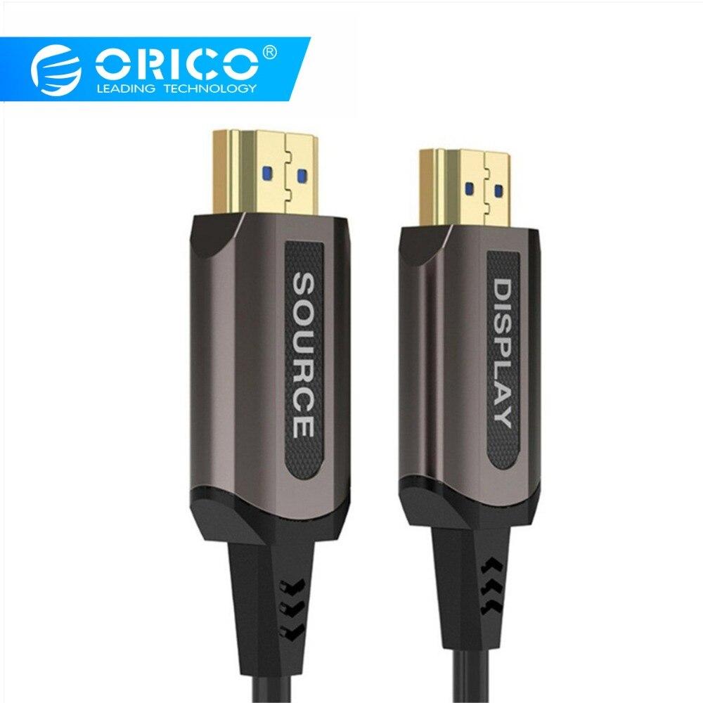 ORICO HDMI mâle à mâle câbles vidéo plaqué or HDMI 2.0 4 K 1080 P câble adaptateur vidéo pour TV projecteur pour ordinateur portable moniteur d'ordinateur