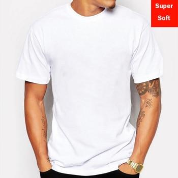 Man Summer Super soft white T shirts Men Short Sleeve cotton Modal Flexible T-shirt white color Size Basic casual Tee Shirt Tops
