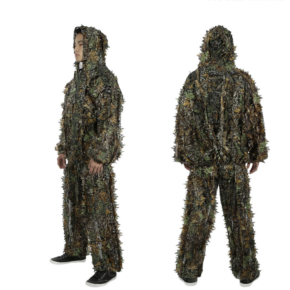 Outdoor Ghillie Suits Camouflage Hunting Cloth Woodland Hunting Outfit Military 3D Disguise Uniform Suits Set Sniper Camo Suit cabeza de toro de colores