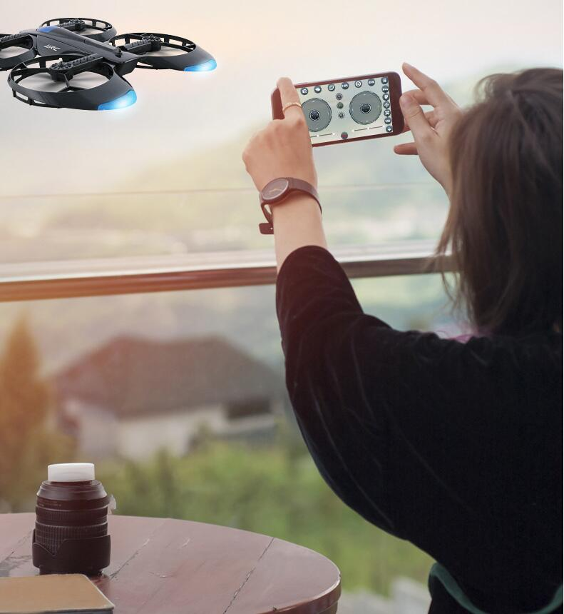 Free extra battery App Control WIFI Real time Wheel shaped fold font b Drone b font