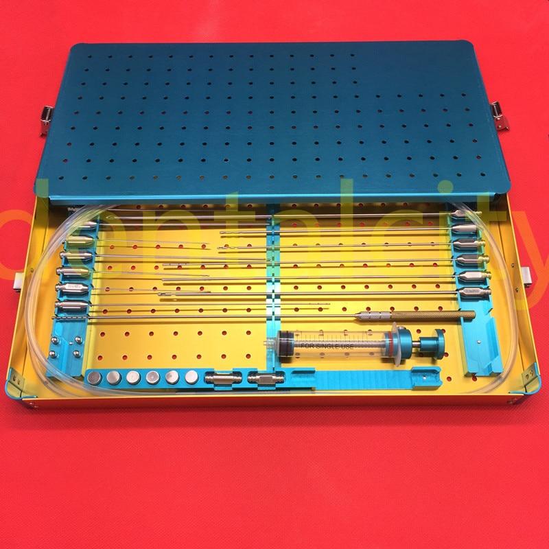 Melhor caixa de kit de Transferência de Gordura Lipo Células Estaminais cânula Gordura Lipoaspiração caixa de metal