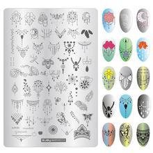 Пластины для дизайна ногтей 95x14 см 1 шт серия zjoy plus занавески