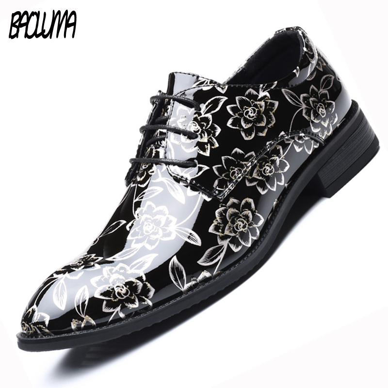 BAOLUMA Spring Fashion Oxford Business Men Shoes Italy Artificial Leather High Quality Soft Casual Breathable Men's Flats Shoes men shoes tide shoes casual fashion oxford business men shoes leather high quality soft casual breathable men s flats man shoes
