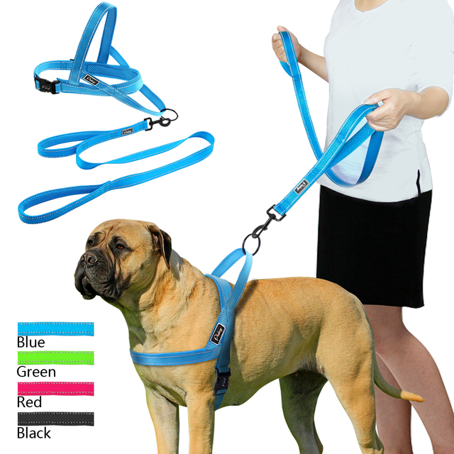 No Pull Reflective Dog Harness Leash Set Pet Vest Lead For Small Meduim Large Dogs Perfect for Daily Training Walking XXS L