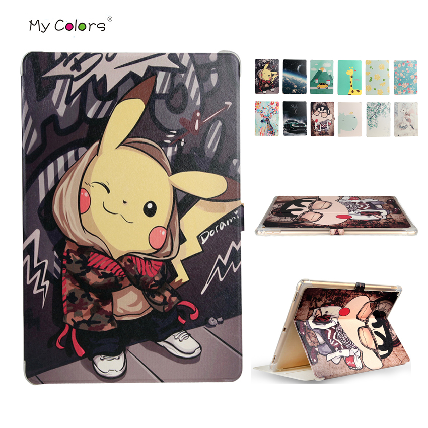 For iPad Pro 12.9 PU Leather Case Cover Slim Colorful Print Protective Stand For Apple iPad Pro 12.9'' Smart Tablet Fundas Skin tablet protective case shell skin for xiaomi mi pad 1 mipad 1 pu leather stand tablet cover fundas mi a0101 case screen film pen
