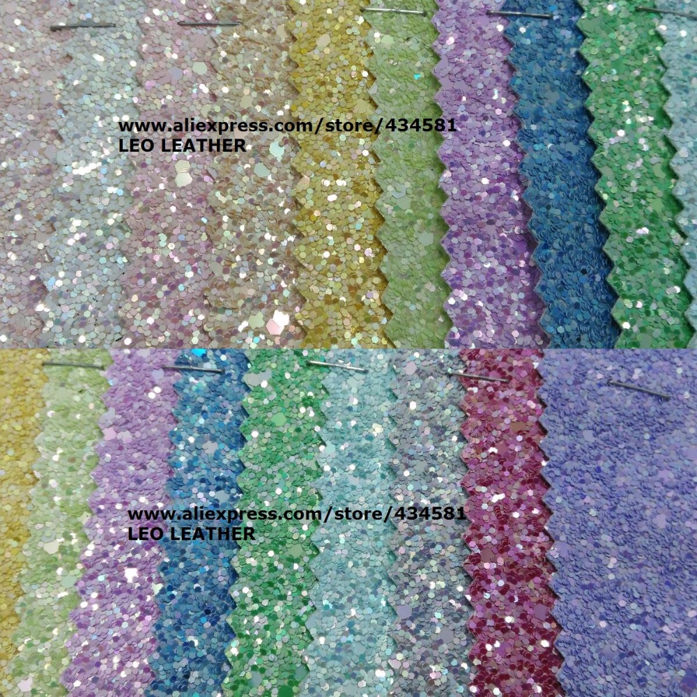 Chunky Glitter Leather Colors high quality PU Glitter Fabric for DIY sewing Glitter Fabric P719