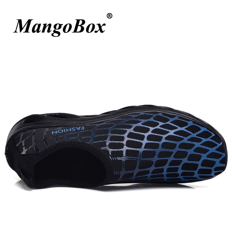 2018 Mens Summer Shoes Blue Black Slip On Water Shoes Plus Size 45 46 Breathable Water Shoes Men Comfortable Sandals Men Outdoor