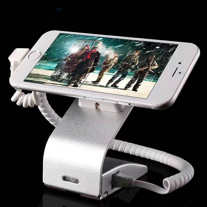 remote control cell mobile phone security alarm display stand holder for anti-theft with charging function cell phone security anti theft display stand with alarm and charging function for mobile phone retail store exhibition 10pcs lot