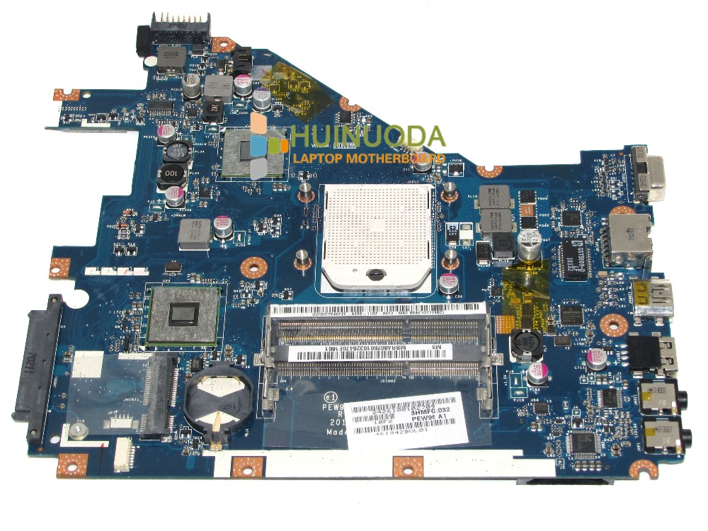 ФОТО laptop motherboard for Acer aspire 5552 PEW96 LA-6552P Mother Board AMD SOCKET S1 DDR3 Mainboard MBR4602001 with free cpu