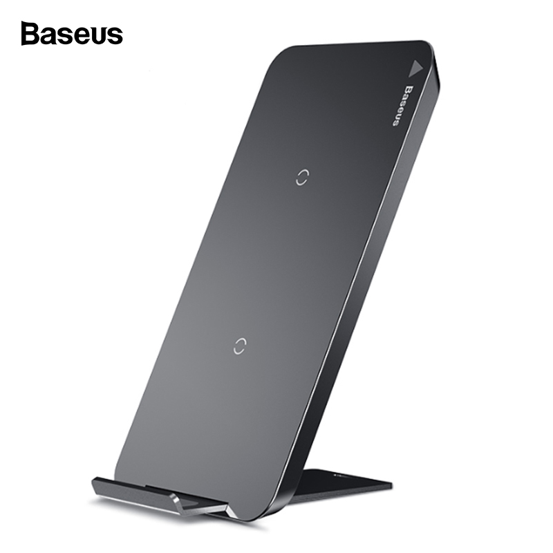 Baseus Qi Wireless Charger For iPhone X XS Max Samsung S10 Xiaomi Mi 9 Mix 3 10W Fast Wirless Wireless Charging Pad Dock Station Зарядное устройство