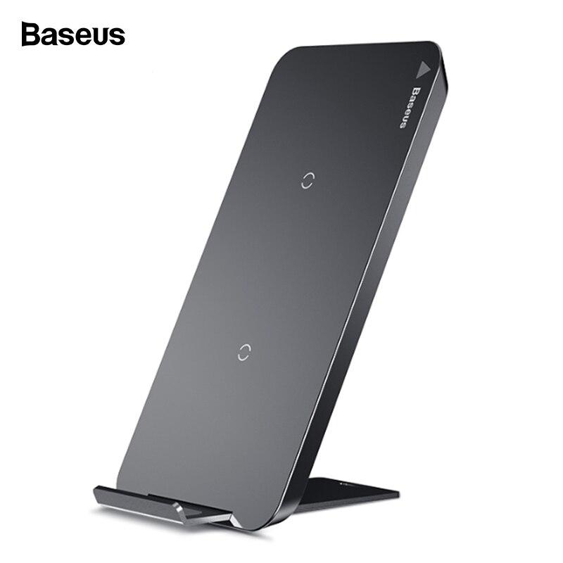 Baseus Qi cargador inalámbrico para iPhone X XS X Max XR 8 Samsung S9 S8 Nota 9 rápido inalámbrico de carga inalámbrica pad Docking estación Dock