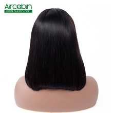 Short 13*4 Straight Lace Front Human Hair Wigs Indain Hair Bob Wigs For Black Women Middle Part Pelucas Mujer Cabello Humano