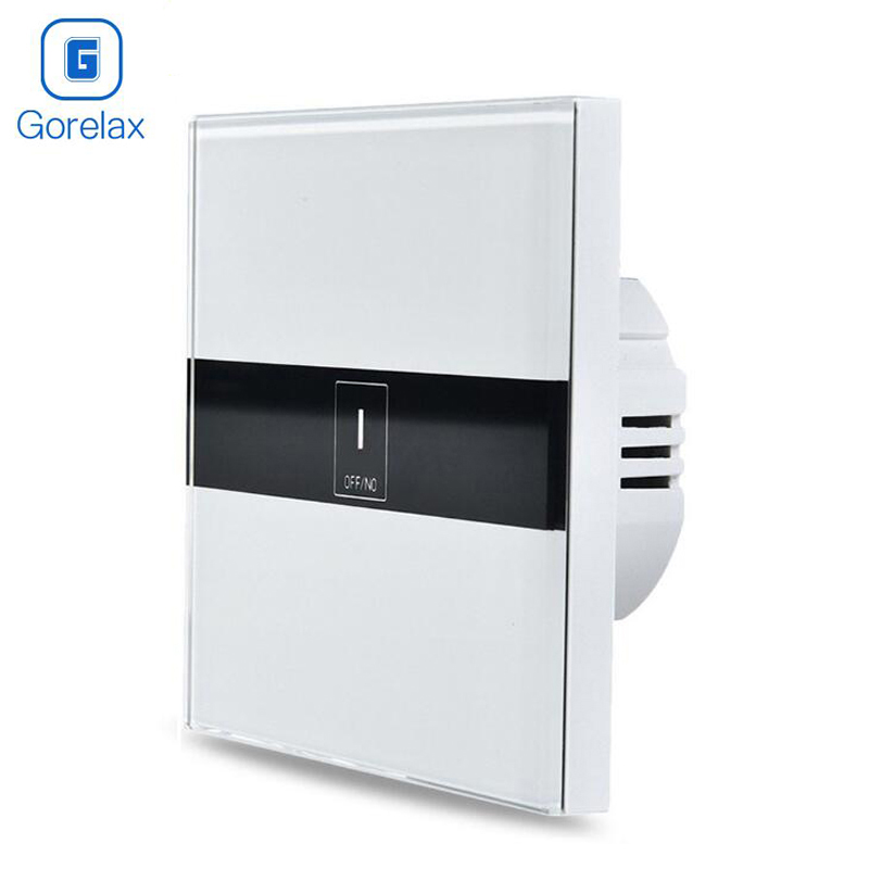 Gorelax Smart Home Automation Module Wireless Remote Control Light Touch Wall Switch,Crystal Glass Panel Smart Home Appliance