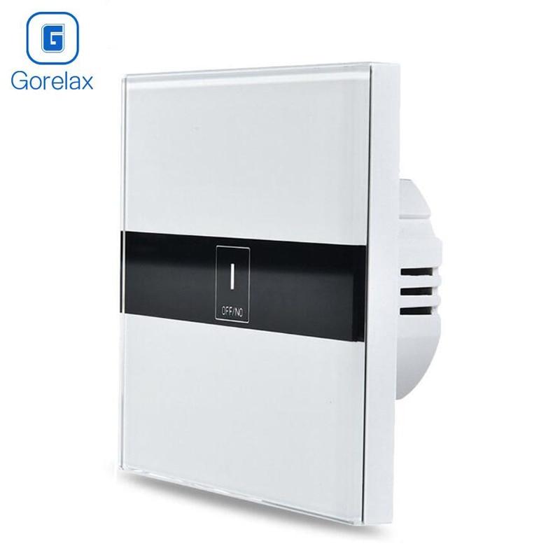Gorelax Smart Home Automation Module Անլար հեռակառավարման լույսի հպման պատի անջատիչ, բյուրեղապակի ապակե վահանակ Smart տնային սարք