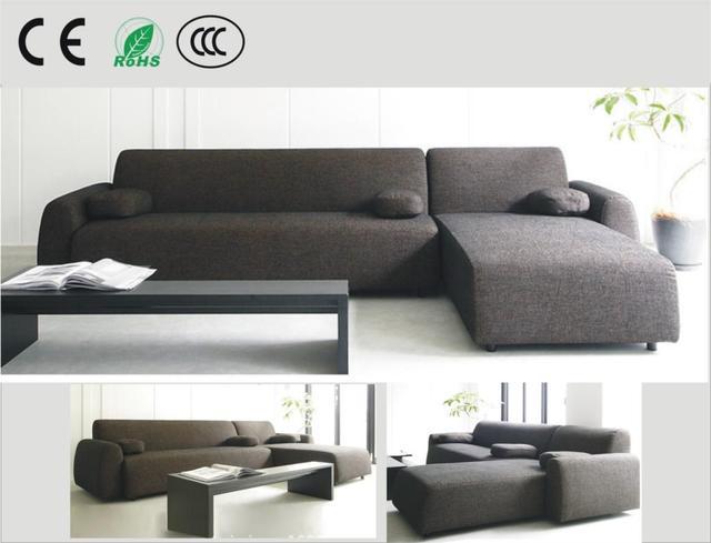 Japanese style fabric sofa small apartment sofa corner sofa ...