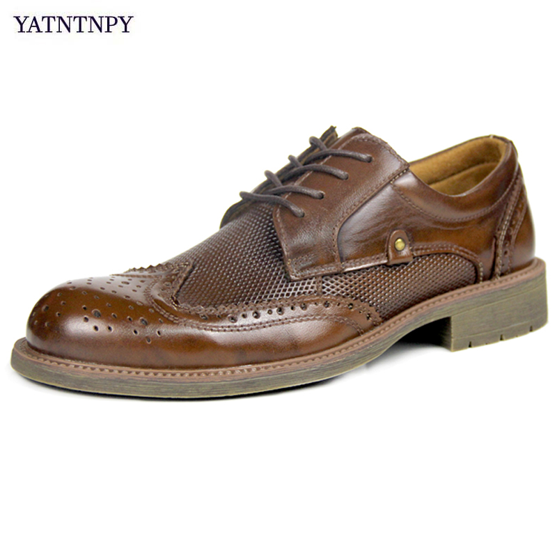 Yatntnpy Hommes Brown Formelle Sculpté retro Confort Dentelle up En Light Brown Robe Vintage Chaussures Cuir Brown Véritable Décontractée Bullock red D'affaires Shoesclassical 1uKJ3FTlc