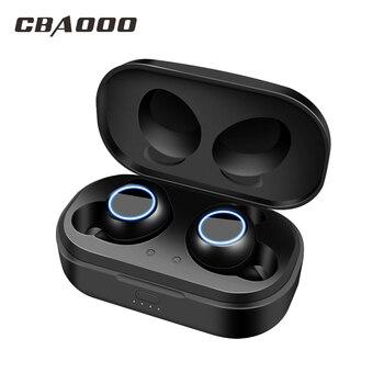 c74e6a58691 CBAOOO X118 auriculares Bluetooth 5,0 TWS auriculares inalámbricos  auriculares Blutooth manos libres auriculares deportivos auriculares para  juegos ...
