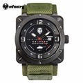 INFANTRY Luxury Brand Date Japan Movt Square Men Quartz Casual Watch Army Military Sports Nylon Watch Male Clock World Of Tanks