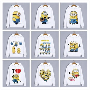 Image 1 - Sudaderas con capucha de invierno Anime Minions Harajuku adorables amantes ropa Unisex adultos ropa Casual Sudadera con capucha Tops