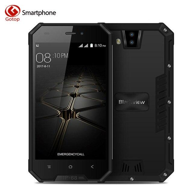 Blackview BV4000 MT6580A Quad Core IP68 Waterproof Smartphone Android 7.0 1GB RAM 8GB ROM IP68 Waterproof 3680mAh Mobile Phone