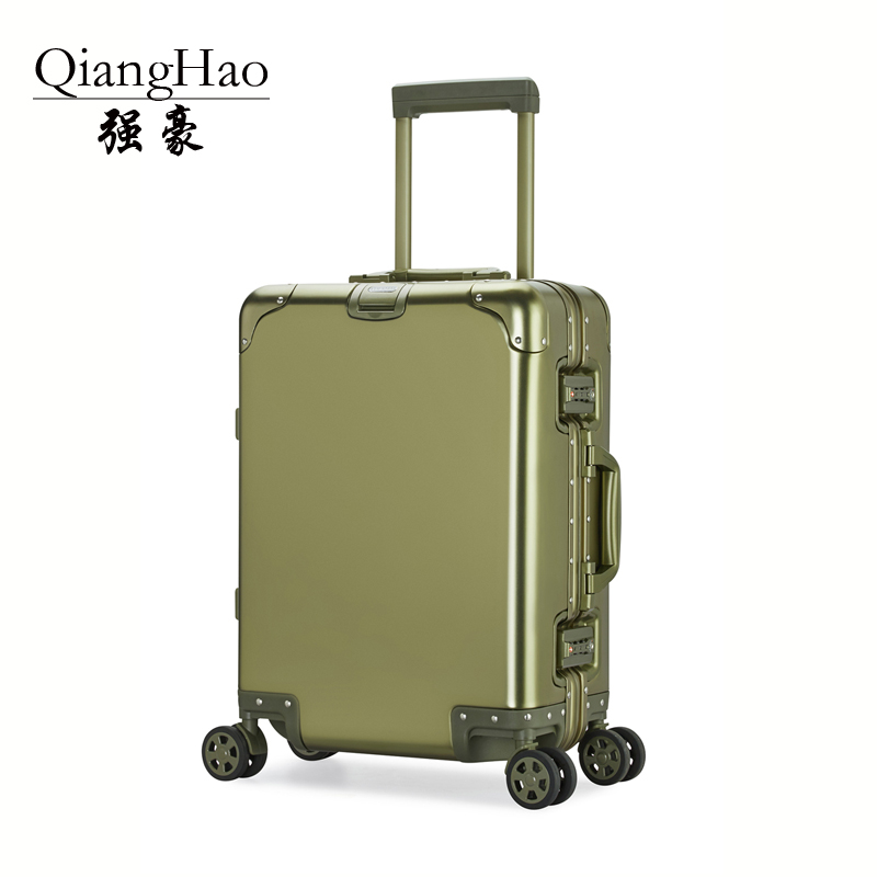 20 24 inch 100%Aluminium alloy Luggage Suitcase Travel Traveling Trolley Rolling Spinner Hardside Carry On Luggage Suitcase y road travel trolley luggage suitcase 100