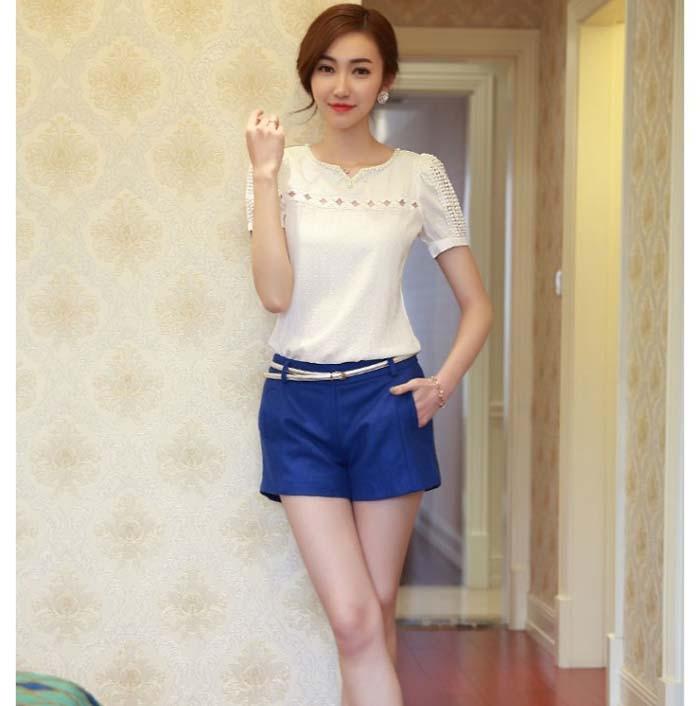 Free Ostrich 2019 summer style   shirts   women White Lace top Short Sleeve   Shirt   V Neck Chiffon   Blouse   Tops Camisa Feminina C2635