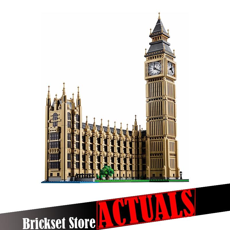 LEPIN 17005 Big Ben Street View Creator Architecture Building Blocks Bricks Toys For Children brinquedos 4163PCS legoINGly 10253