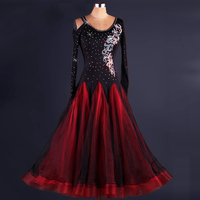 Women Ballroom Dance Dress Women Waltz Competition Standard Dance Dress Lady Flamenco Dance Costumes Modern Dance Clothing