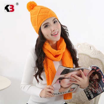 Autumn Winter Women's Hat Caps Knitted Wool Warm Scarf Thick Windproof Balaclava Multi Functional Hat Scarf Set For Women - DISCOUNT ITEM  0% OFF All Category