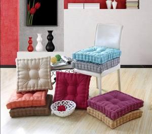 Linen cotton thickened seat cushion Student warm chair cushion bay window pad Floor mat